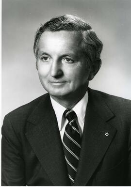 Publicity portrait of  Dr. Robert E. Bell -Convocation 1980 , honorary degree recipient (Dr. of S...