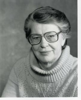 Portrait of Honorary degree recipient Pauline Jewett (Dr. of Laws), 1987