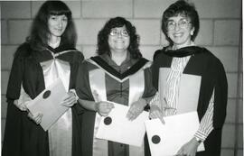 (left to right) Suzanne Seager, Susana Bleuer, Georgia Roberts, all three Ph.D. mathematics