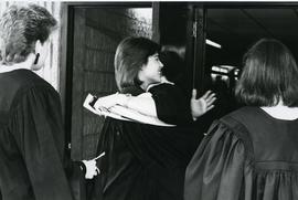 Unidentified convocation graduates - Spring convocation 1986