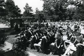 Convocation ceremony - Graduates and guests - Spring 1986