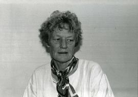 Portrait of Honorary degree recipient Eleanor Milne (Dr. of Literature) Spring convocation 1987