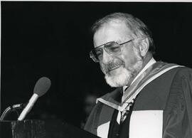 Kenneth Grant, Honorary Degree recipient, LL.D., speaking at Convocation