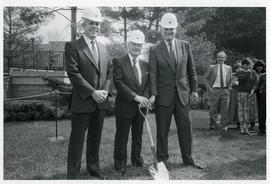 Sod-turning ceremony for Library extension. May 10, 1987.
