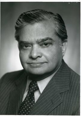 Portrait of Honorary degree recipient Indar Jit Rikhye (Dr. of Laws), 1987