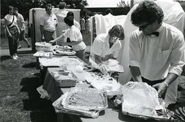 Clean-up after spring convocation buffet - Spring 1986