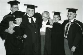 Cynthia Goodland, B.A. (centre) with family
