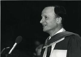 Honorary Degree recipient, LL.D. John Charles Polanyi speaks at Covocation
