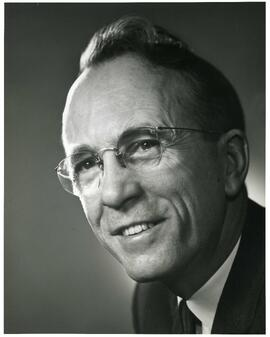 Portrait of Honorary degree recipient - 1980 - Dr. Tommy Douglas (Dr. of Laws)
