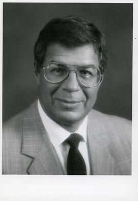 Portrait of Honorary degree recipient Raymond A. Price (Dr. of Science), 1987