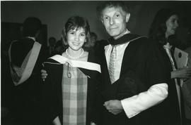 Stephen Talmage with his daughter Catherine, winner of the Senate medal (Honours Philosophy)