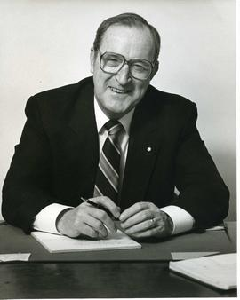 Portrait of Honorary degree recipient Gordon F. Osbaldeston (Dr. of Laws) Spring 1987