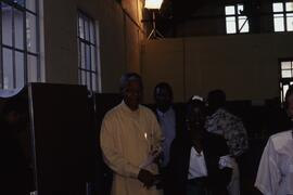 Mandela in the polling station.