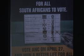 An ANC election poster.