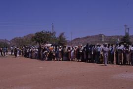 Waiting to vote- a too typical experience but voters persisted.