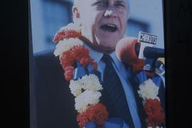 De Klerk- leader of the National Party- campaigning