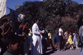 Saints day rural parish near Tegucigalpa with Canadian priest. Honduras, ca. 1985