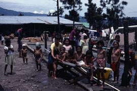 Laundry and bath. Colomancagua, Honduras, ca. 1985.