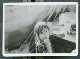A young girl eating. Colomancagua, Honduras, 1985