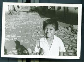 A child in the street. Honduras, ca. 1985.