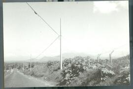 A tropical landscape, including distant mountains. El Salvador, ca. 1986.