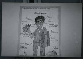 "A poster depicting the characteristics of a ""popular educator"". El Salvador, ca. 1986"
