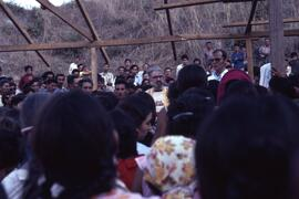 Dan Heap and Greg Chisholm conducting Mass at La Vritud. Honduras, ca. 1985.