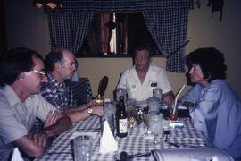 Lunch in Tegucigalpa-Warren Allmand Liberal MP, Joe Gunn, Interpreter (Canadian with Catholic Bis...