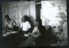 Briefing mission with McKinnon (Oxfam) left with maps. South Africa, 1994.