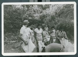 Images of Katherine Pearson and Susan Johnson with coffee workers. Note the family units at work ...