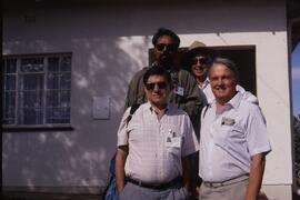 Mission members- their work almost done- rear Joaneed Khan, Don Dunbar, front, Gerald Caplan, Dav...