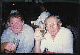 Ted Walsh with Meyer Brownstone, pre-election visit to Natal. South Africa, 1994.