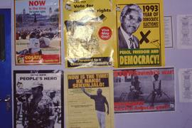 ANC posters at the rally.