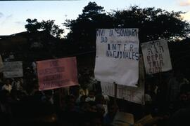 Posters- solidarity with internationals-no to repatriation-no we do not want to be surrounded by ...