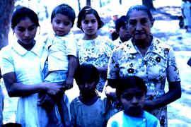 Three generations [of El Salvadorian women]. Colomancagua, Honduras, ca. 1985.