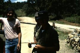 Road block. These were unusual in mission experience and this one did not result in any difficulties. Honduras, ca. 1985.