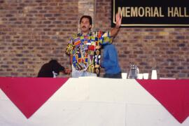 Call for order- note Chris Hani poster (an ANC hero)
