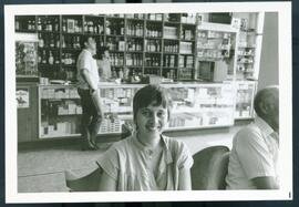 An unidentified woman inside of a bar. Likely Honduras, ca. 1985.
