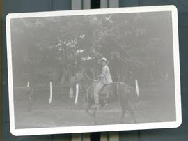 An unidentified man on horseback. Nicaragua