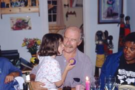 Gallagher and daughter (Grand-daughter?)