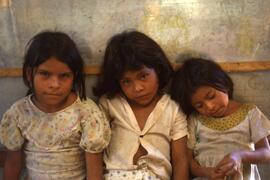 Three little maids. Colomancagua, Honduras, ca. 1985.