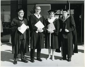 Dr. Beattie with son, Dr. Lamb and daughter, 1963