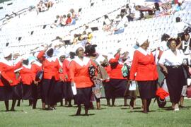 Women's evengelical group at the Durban Peace Rally- there was a heavy religious emphasis at the ...