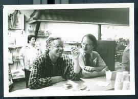 Bruce cockburn with an unidentified man. Honduras, ca. 1985