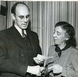 Photo of W. Eggleston with Olga Walah, ca. 1959
