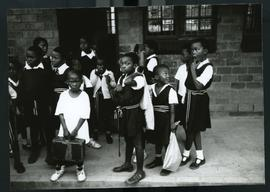 Election education at schools. South Africa, 1994.