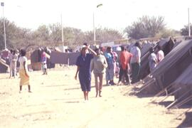 Returnees camp- reminiscent of Honduras but with far better facilities and freedom of movement.