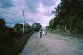 Mission on a road leading to a town held by FLMN but access given by Salvadoran army which contro...