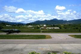 US military aircraft at Tegucigalpa airport . US military presence was quite visible particularly...